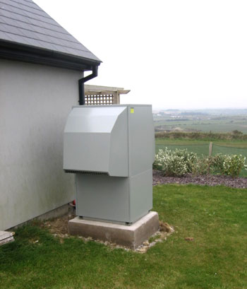 Air to water heat pump in use Ireland